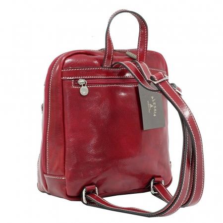 Rucsac din piele naturala vachetta rosu model 4430 [1]