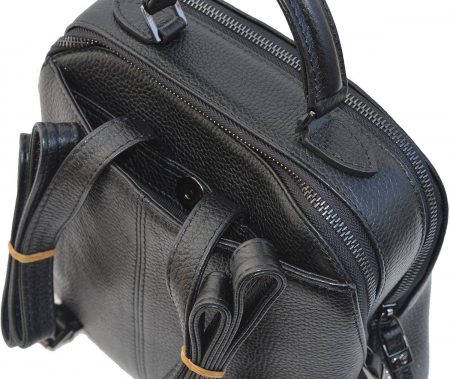 Rucsac din piele neagra, marca Tony Bellucci, model T121 [3]