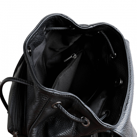 Rucsac din piele neagra model R100 [2]