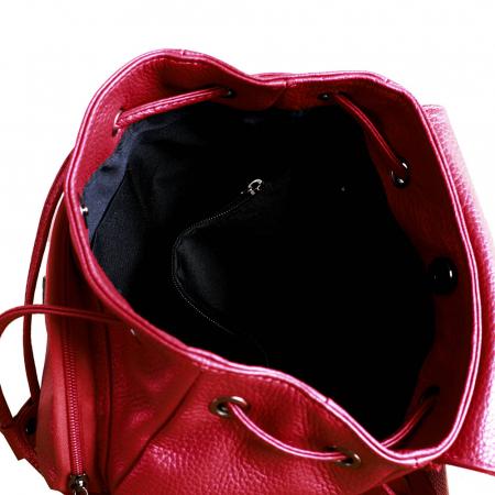 Rucsac din piele rosie model R100 [2]