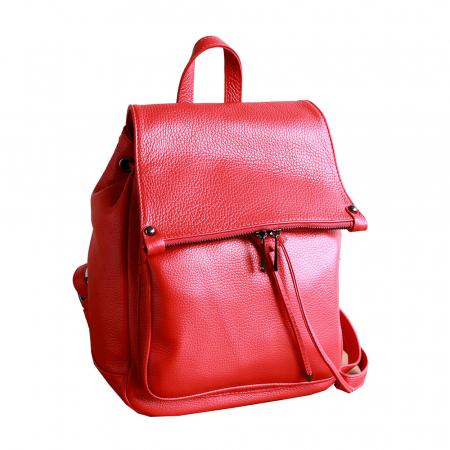 Rucsac din piele rosie model R100 [0]