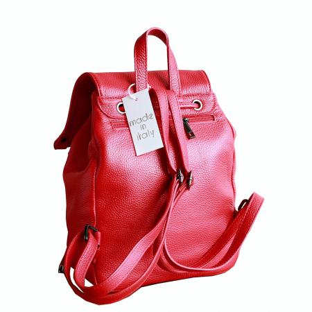 Rucsac din piele rosie model R100 [1]