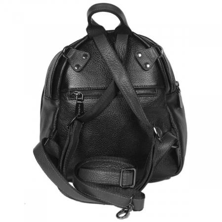 Rucsac/geanta de dama din piele naturala neagra 175 [2]