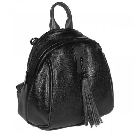Rucsac/geanta de dama din piele naturala neagra 175 [0]