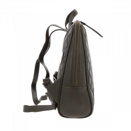 Rucsac kaki din piele naturala model matlasat Tony Bellucci T135 [2]