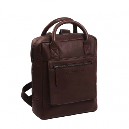 Rucsac laptop 13 inch, The Chesterfield Brand din piele moale maro, Davon [0]