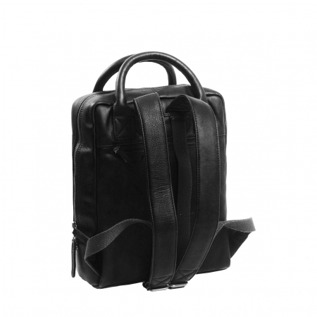 Rucsac laptop 13 inch, The Chesterfield Brand din piele moale neagra, Davon [3]