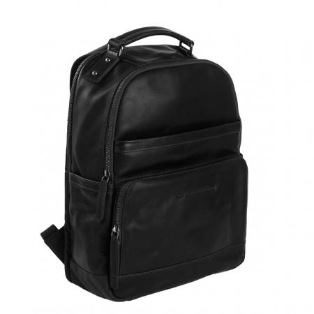 Rucsac pentru laptop de 14 inch si tableta, The Chesterfield Brand, din piele naturala, Austin, Negru [0]