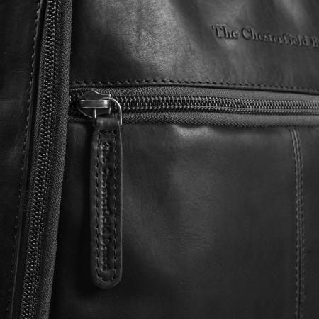 Rucsac pentru laptop de 14 inch, The Chesterfield Brand, din piele neagra, model James [4]