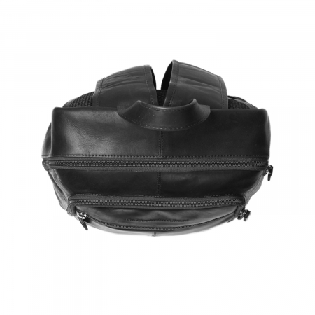 Rucsac pentru laptop de 14 inch, The Chesterfield Brand, din piele neagra, model James [2]
