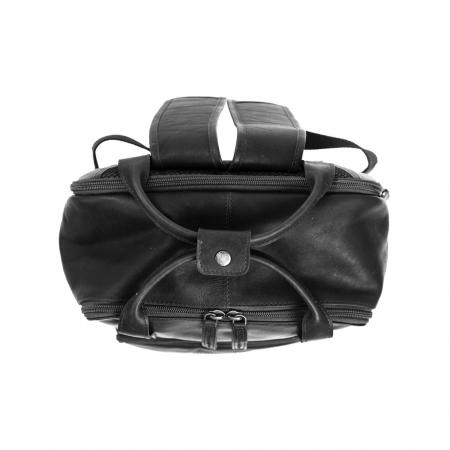 Rucsac pentru tableta si laptop de 14 inch, The Chesterfield Brand, din piele naturala, model Belford, Negru [3]