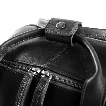 Rucsac pentru tableta si laptop de 14 inch, The Chesterfield Brand, din piele naturala, model Belford, Negru [4]