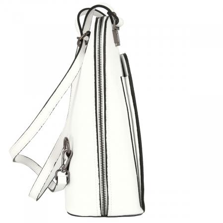 Rucsac si geanta 2 in 1 din piele naturala alba model 4115 [2]