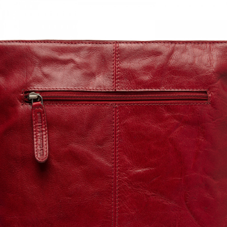 Rucsac si geanta 2 in 1, din piele naturala, The Chesterfield Brand, Naples, Rosu [4]