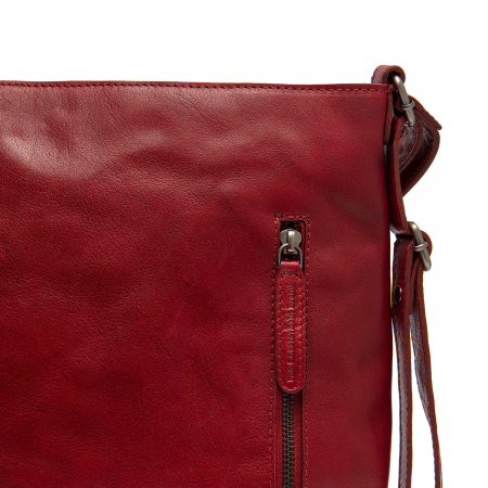 Rucsac si geanta 2 in 1, din piele naturala, The Chesterfield Brand, Naples, Rosu [3]