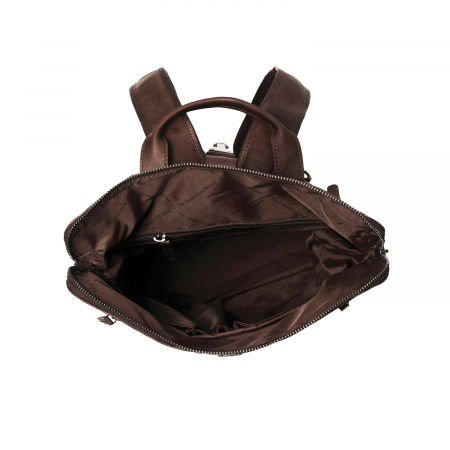 Rucsac The Chesterfield Brand din piele moale maro, Dali [3]