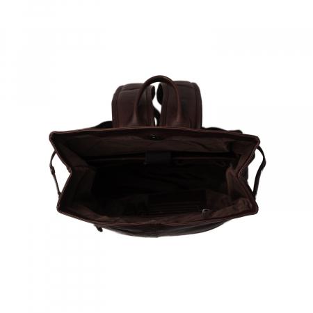 Rucsac The Chesterfield Brand, Graz din piele , cu compartiment pentru laptop de 15 inch, Negru [6]