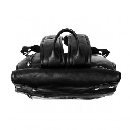 Rucsac The Chesterfield Brand, Graz din piele , cu compartiment pentru laptop de 15 inch, Negru [3]