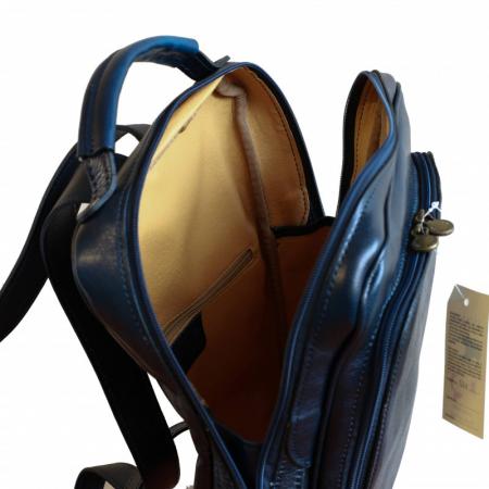 Rucsac  unisex din piele bleumarin inchis model R107 [3]