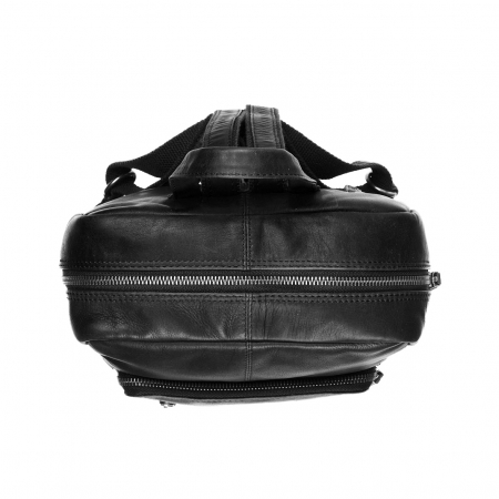Rucsac unisex The Chesterfield Brand din piele moale, Layla, Negru [2]
