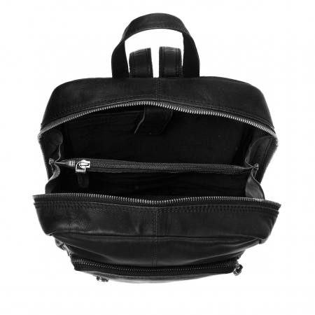 Rucsac unisex The Chesterfield Brand din piele moale, Layla, Negru [1]