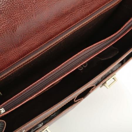 Servieta de acte din piele naturala maro roscat Tony Bellucci T5007 [3]