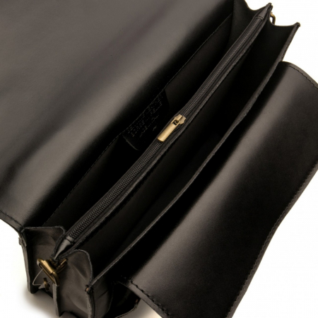 Servieta din piele naturala neagra model S022 [2]
