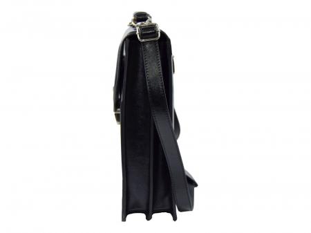 Servieta din piele neagra model 019 [2]