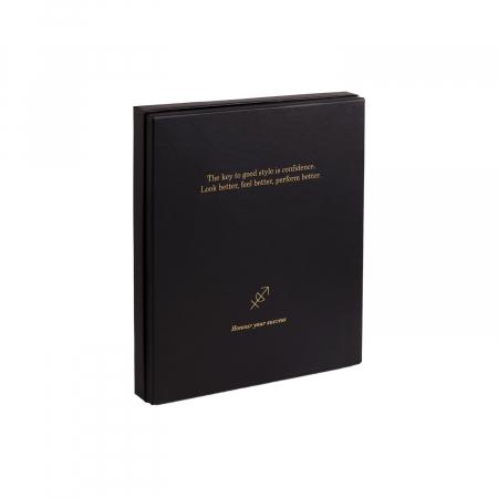 Set cadou pentru barbati cu pix si agenda, The Chesterfield Brand maro coniac [4]