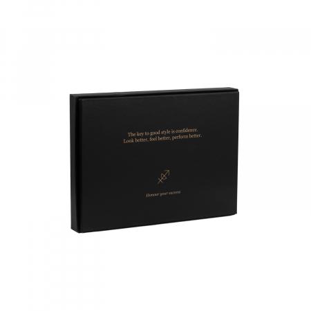 Set cadou pentru barbati cu port card si breloc pentru chei, The Chesterfield Brand maro coniac [3]