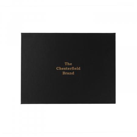Set cadou pentru barbati cu port card si breloc pentru chei, The Chesterfield Brand maro coniac [2]