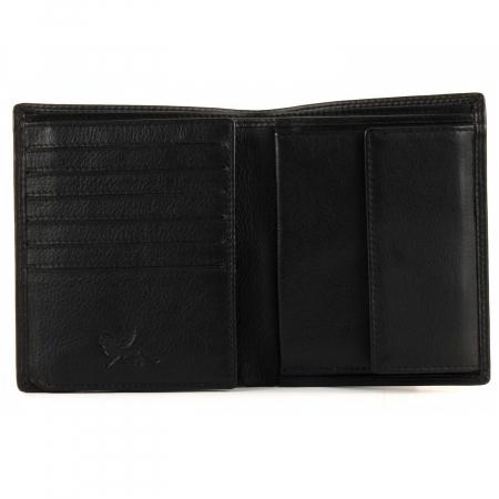 Set cadou pentru barbati cu portofel si breloc pentru chei, din piele, Mano, model M19030 Negru [2]