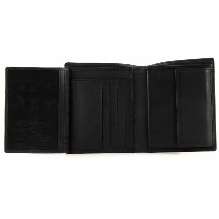 Set cadou pentru barbati cu portofel si breloc pentru chei, din piele, Mano, model M19030 Negru [3]