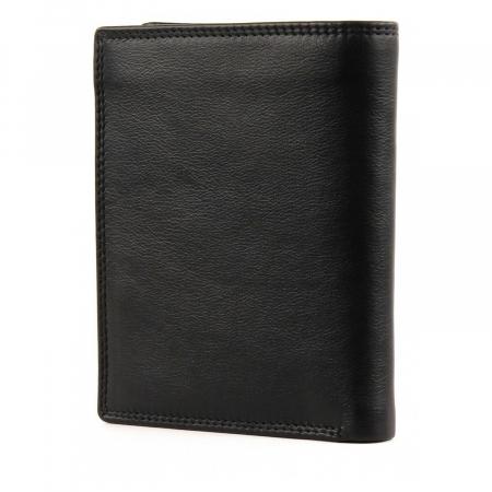 Set cadou pentru barbati cu portofel si breloc pentru chei, din piele, Mano, model M19030 Negru [4]