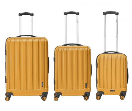 Troler mediu Packenger Velvet galben mustar 62 cm [4]