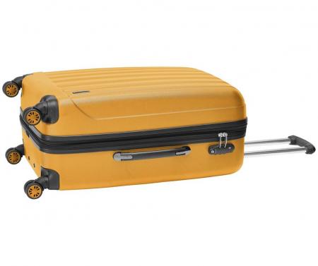 Troler mediu Packenger Velvet galben mustar 62 cm [2]