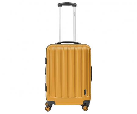 Troler mediu Packenger Velvet galben mustar 62 cm [0]