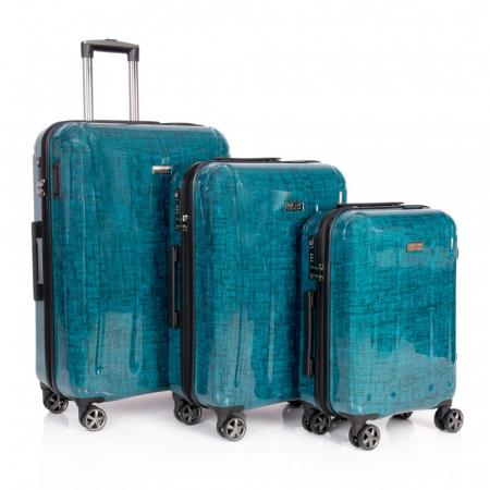 Troler mediu  REGAL albastru turcoaz 66 cm [5]