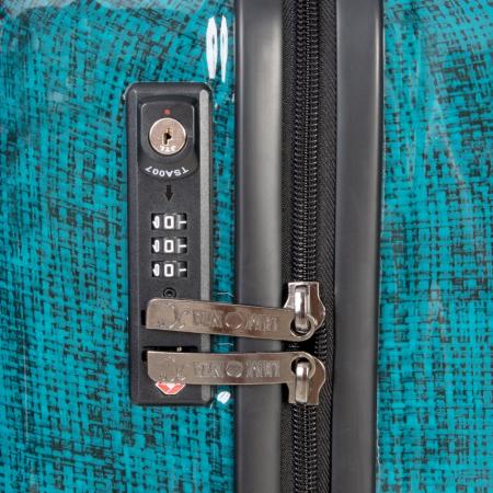 Troler mediu  REGAL albastru turcoaz 66 cm [3]