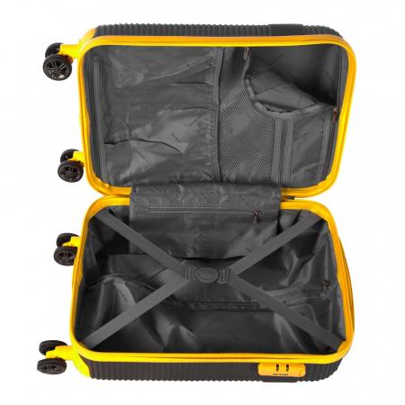 Troler mic UPTOWN negru cu galben 55 cm [5]