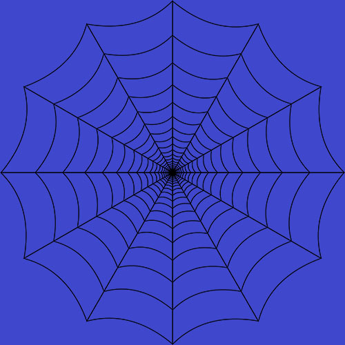 albastru spider