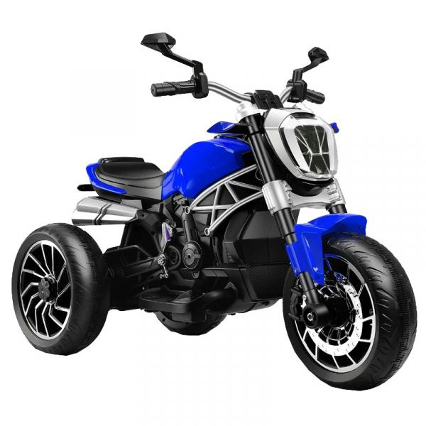 Motocicleta electrica cu 3 roti Premier Retro, 6V, 2 motoare, MP3, albastru [0]