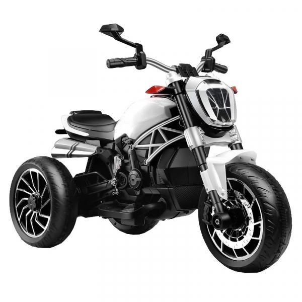 Motocicleta electrica cu 3 roti Premier Retro, 6V, 2 motoare, MP3, alb 0
