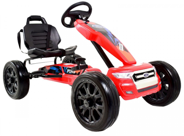 Kart Ford rosu cu pedale 1
