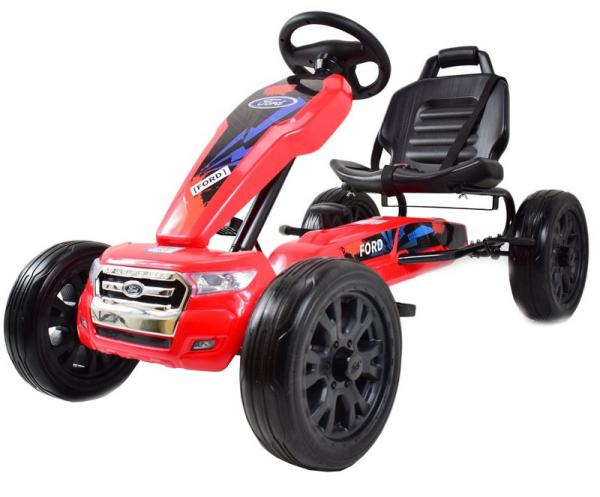 Kart Ford rosu cu pedale 0