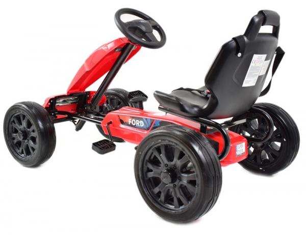 Kart Ford rosu cu pedale 2