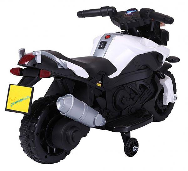MMotocicleta electrica cu 2 roti Premier Rider, 6V, muzica, roti ajutatoare 2