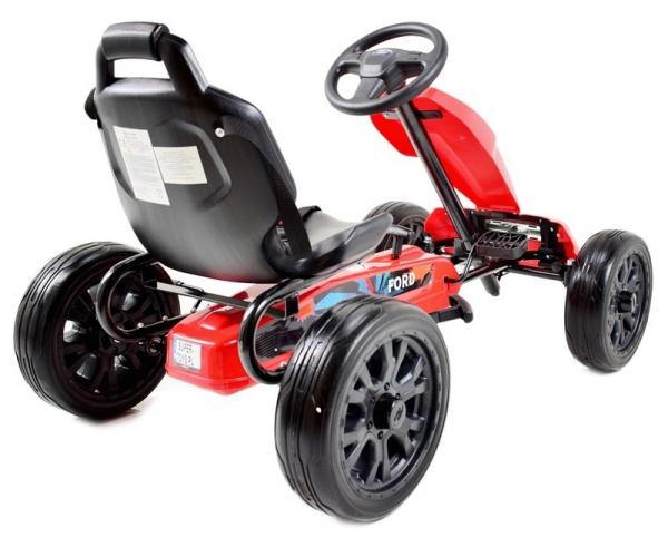 Kart Ford rosu cu pedale 3