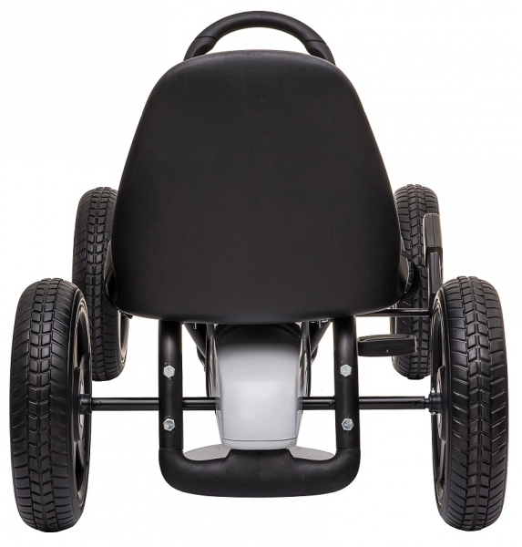 Kart Mercedes cu pedale pentru copii, roti cauciuc Eva, alb [6]