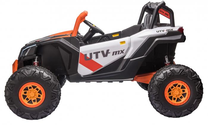 Masinuta electrica UTV Premier Dune, 24V, roti cauciuc EVA, 2 locuri, scaun piele ecologica, portocaliu [1]